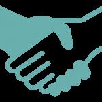 handshaking working together icon