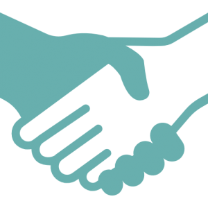 handshaking working together icon