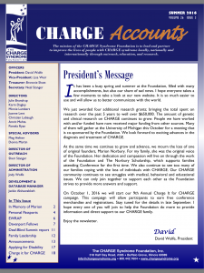 CHARGE Accounts Newsletter