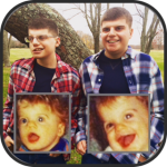Two brothers Matthew and Brian are pictured today and as young children