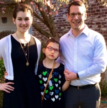 Christian Lobaugh with daughters