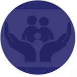 hands holding people icon