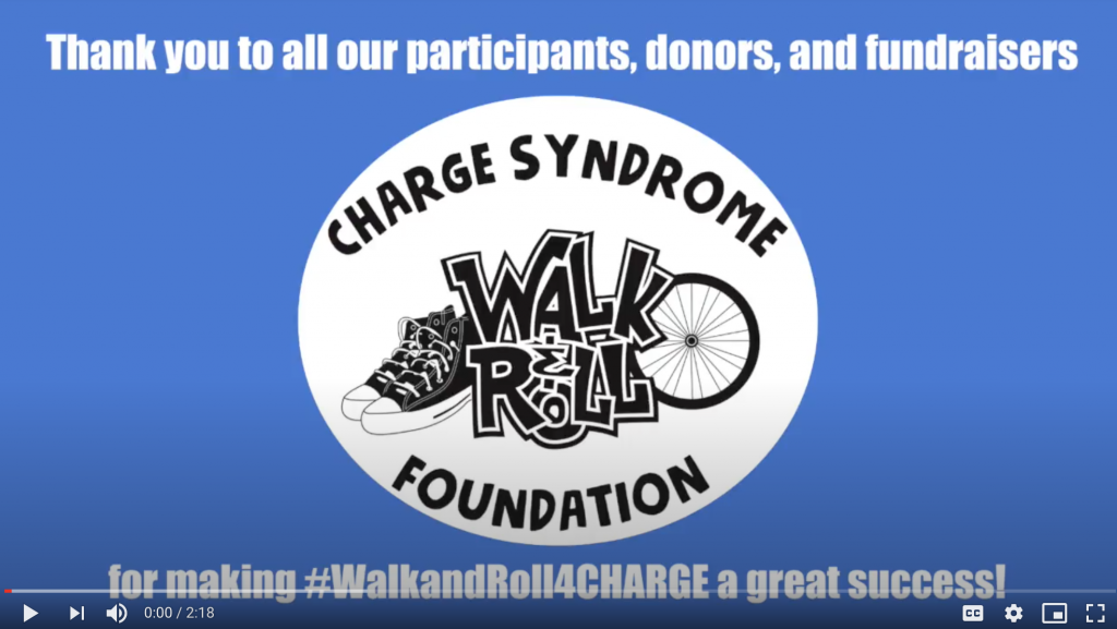 Thank you to all our participants, donors, and fundraisers for making #WalkandRoll4CHARGE a great success!