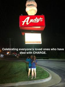 Celebrating everyone's loved ones who have died with CHARGE.