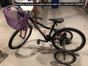 Donating a bik