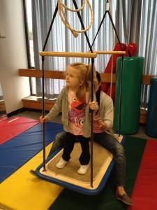 Izzy on swing